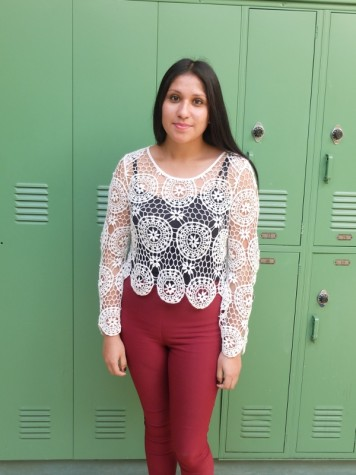 "Vanesa Rojas, 12 ""I want to study fashion design or culinary arts.  If I choose fashion design, I'd move to New York or something."""