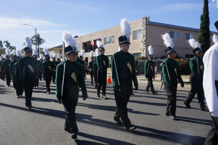 Poly's marching band at the MLK parade.
