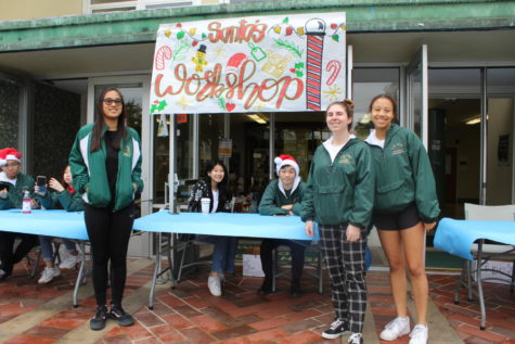 "LB Poly began the holiday season with its annual Holiday Project on December 7. The ASB sponsored event also featured student volunteers from Female Leadership Academy, Model UN, and LEIA club. Families from the community surrounding Poly were able to enjoy Christmas music and refreshments as well as partake in workshops such as choosing their own books to take home and making reindeer antlers headbands. Each child was given a ""passport"" to get stamped at each workshop which would later be exchanged for a toy at Santa's Workshop. Performances by Poly's cheer team and choir helped get attendees in the Christmas spirit and children and adults alike were able to enjoy a holly jolly Saturday."